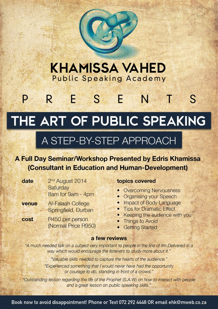 Public Speaking Flyer